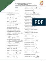 FORMULARIO Analisis Matematico I Y II