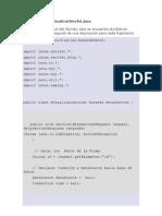 Código Fuente Servlet Actualizar