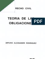 Alessandri Rodriguez, Arturo - Teoria de Las Obligaciones