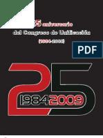 Catalogo Expo 25 aniversario Congreso Unificación 1984-2009