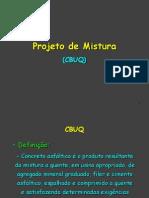 10. Projeto de Mistura (CBUQ)