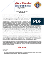 August Newsletter 2012