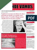 """Mensuario """"A Donde Vamos"""", Agosto 2012"""