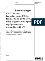 BS7844!3!1998 - Dry Type Transformer