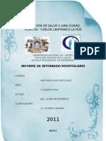 informe hospitalario