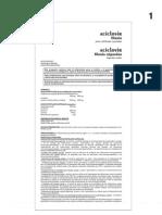 Aciclovir Liof y Caps Prospecto 07-99