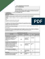 Plan y Programa de Evaluacion Estadistica 1
