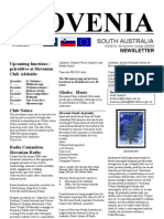 Slovenia SA Newsletter