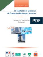 GUI industrie de la plasturgie & schéma de maîtrise des émissions (SME) des composés organiques volatils (COV)