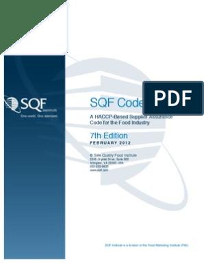 SQF-Code | Sanitation | Hazard Analysis And Critical Control Points