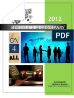 Membership of Company - A HandBook CA4ALL