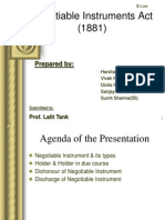 Presentation on Negotiable Student