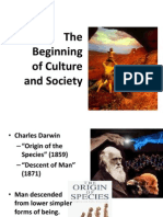 Early Beginning of Culture and Society