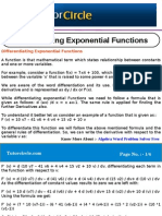Differentiating Exponential Functions