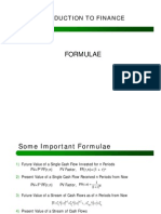 Note Formulae