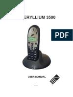 Beryllium 3500 Manual
