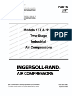 Compressor - Ingersoll-Rand Parts List (15T) | Valve | Gas