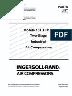 Compressor - Ingersoll-Rand Parts List (15T)