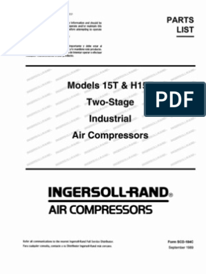 Compressor - Ingersoll-Rand Parts List (15T) | Valve | Gas Compressor