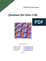 MATSCI 316 Quantum Dot Solar Cells