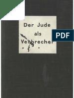 Keller, Josef Und Andersen, Hanns - Der Jude Als Verbrecher (1937, 238 S., Scan-Text)