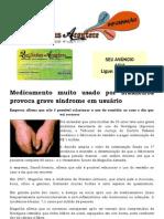 Medicamento muito usado por brasileiros provoca grave síndrome em usuário