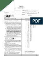 Ugc Net Economics Paper II Solved D0110