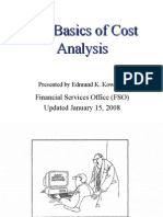 Basics Cost Analysis