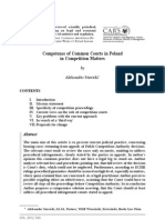Competence of Common Courts in Poland in Competition Matters