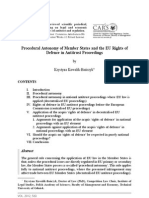 Procedural Autonomy of Member States and the EU Rights of Defence in Antitrust Proceedings