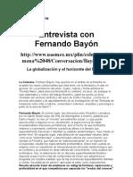 Virginia Aguirre-Entrevista con Fernado Bayón