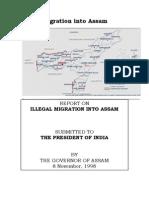 Illegal Migration Into Assam - Lt Gen S K Sinha's Report of 1998