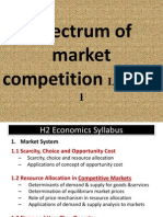 2011 Spectrum of Mkt Comp (Intro + PC) Lectures 1 - 4
