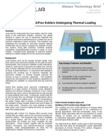 Creep Analysis of Lead-free Solders Undergoing Thermal Loading 2007