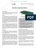 Aircraft Landing Gear Simulation using Abaqus/Explicit 2010