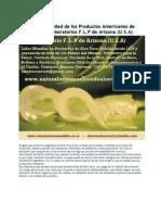 Sellos de Calidad de Los Productos de Aloe de F.L.P