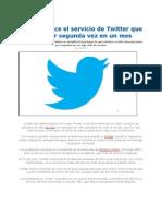 Servicio de Twitter Cae Por Segunda Vez en Un Mes