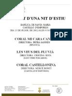 Concert a Castelló d'Empúries UNA NIT D'ESTIU