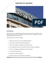Ernst and Young Interview Questions