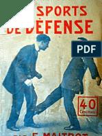 Les Sports de Defense. E.Maitrot
