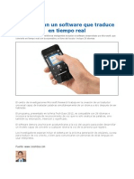 Software Que Traduce en Tiempo Real 2012