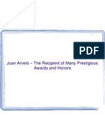 Juan Arvelo md – The Recipient of Many Prestigious Awards and Honors