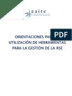 Orientaciones para la utilización de herramientas para la gestión de la RSE