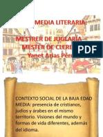 Unidad 6 Mester de Juglaría y Cleresía - Yanet Arias Pérez