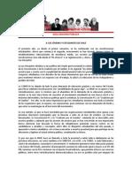 Declaración Pública JRME - agosto de 2012