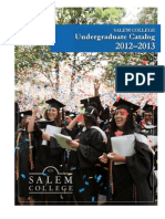 Salem College Undegraduate Catalog 2012-2013