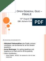 The Open General Quiz IITB - Finals Part 1
