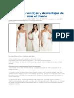 Ventajas y Desventajas de Usar El Color Blanco