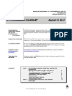 Michigan DEQ Calendar Aug. 13, 2012