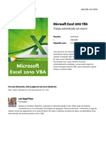 Microsoft Excel 2010 Vba